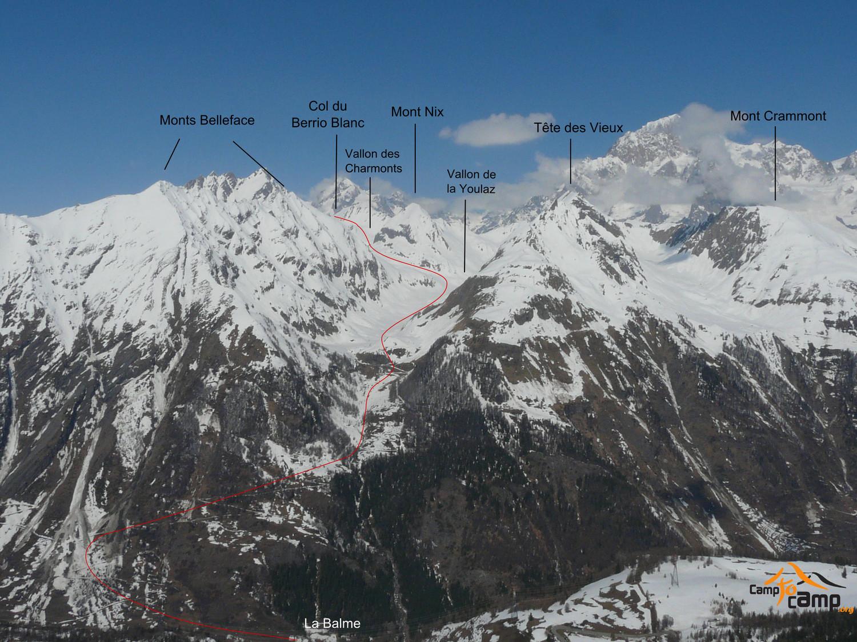 Col du Berrio Blanc par les vallon de la Youlaz et des Charmonts