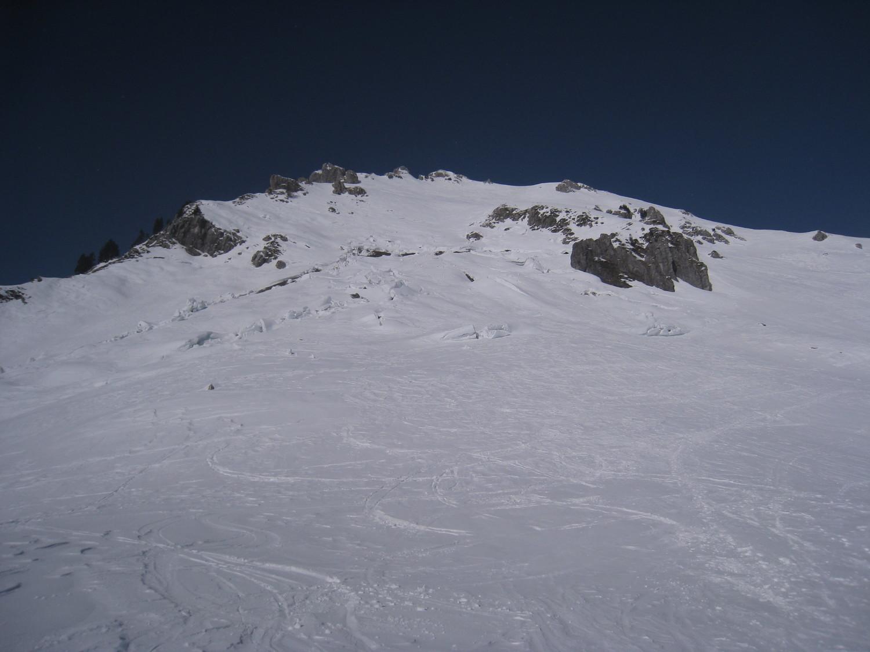 Pointe Chalune - fracture sur le versant S