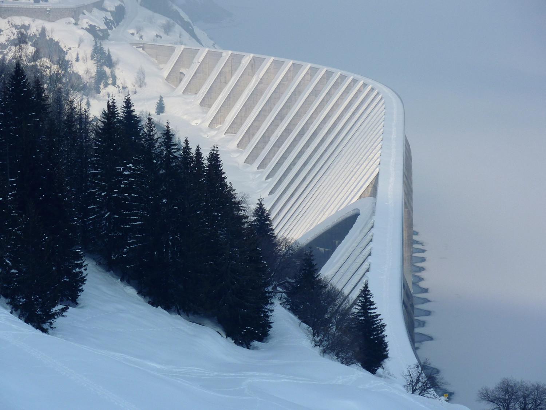 Barrage de Roselend skiable