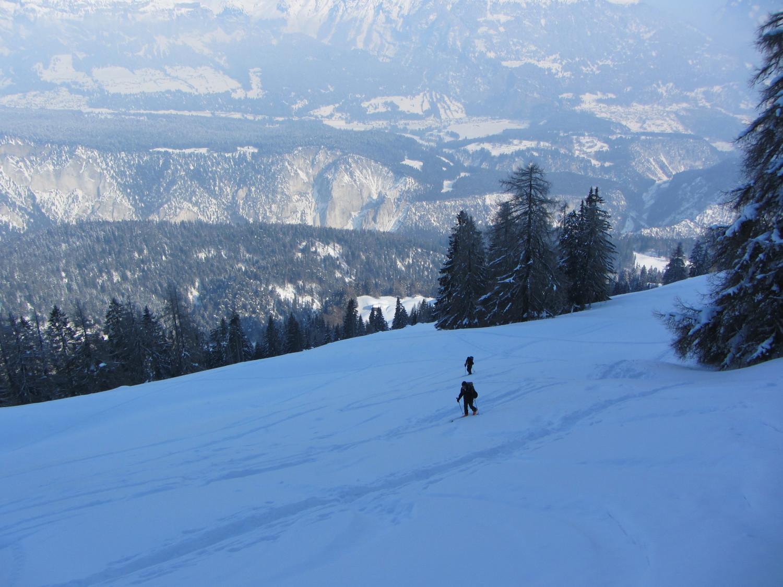 Salendo allo Schluechtli. I pendii di Faner Alp