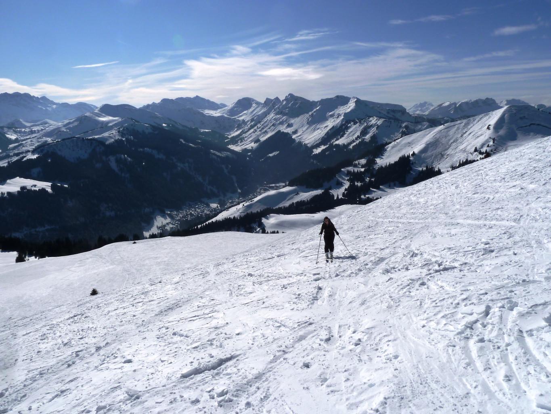 A l'approche du sommet, Dents Blanches sur la gauche