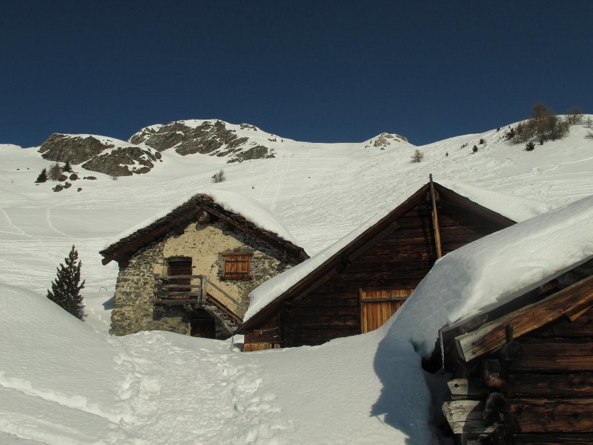 alpage de Lovégno de bois et de pierre