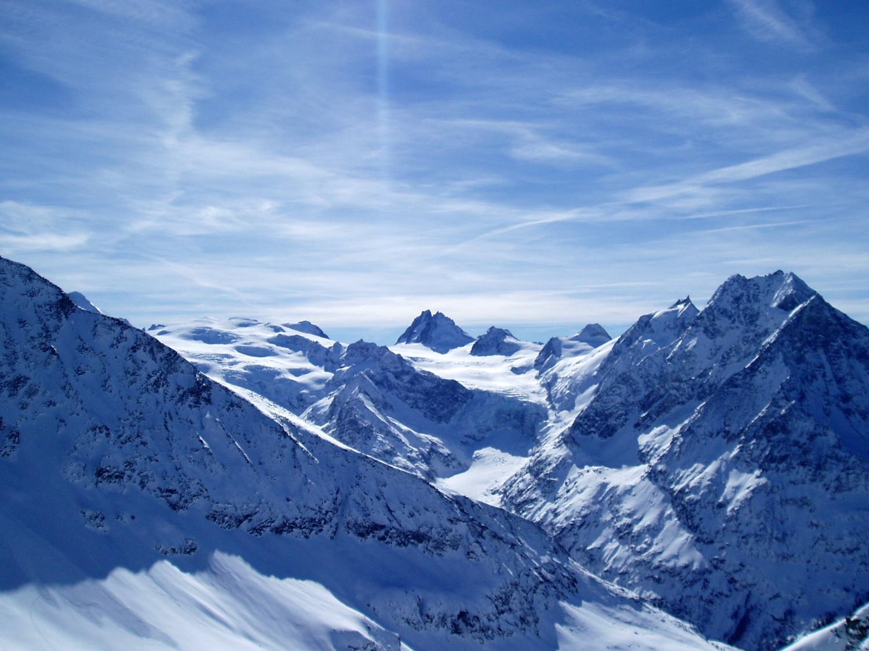 Du sommet, vue sur le glacier du Mont Miné