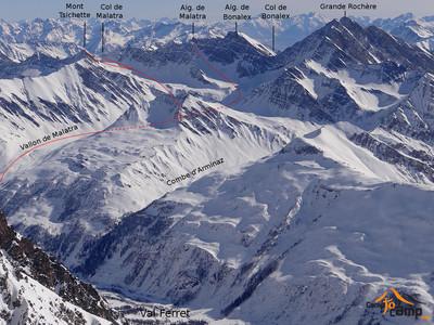 Itinéraires : Col et Aiguille de Malatra