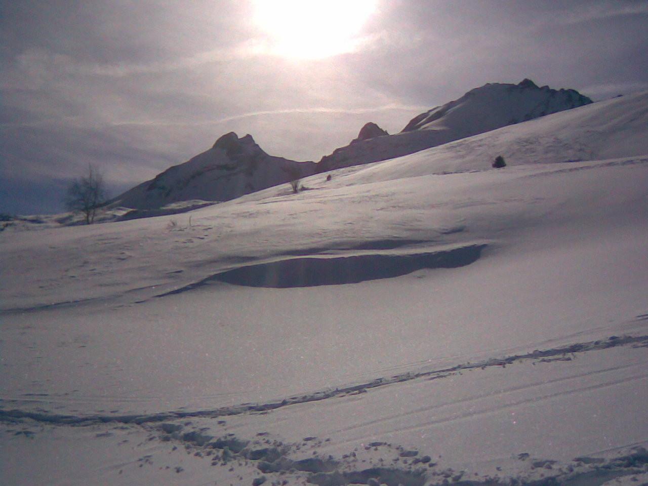 Joli paysage sur l'alpage d'Arplane