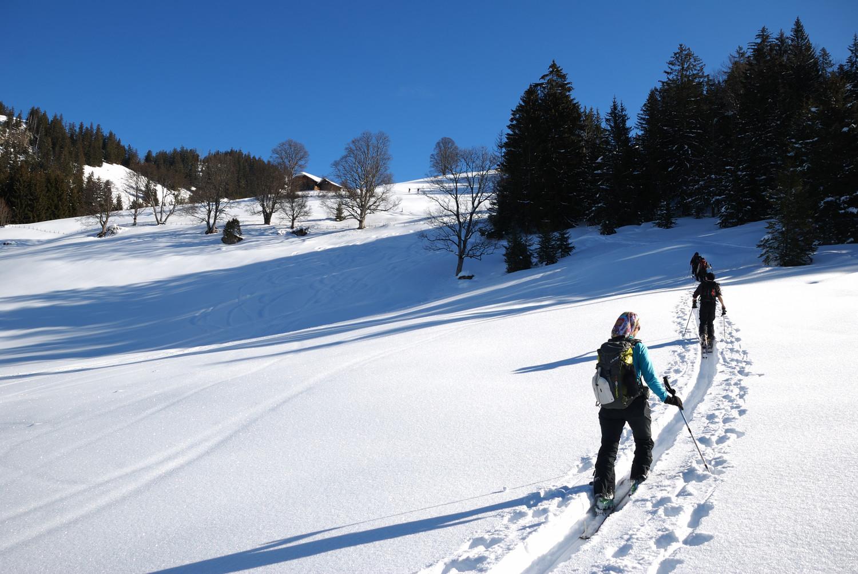 Vers 1400m dans la montée au Niderhorn
