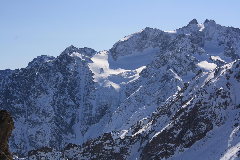 Montagne des Agneaux, Roche de Jabel, Glacier du Casset et couloir Davin