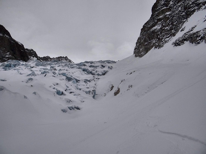Le passage des séracs du glacier de Saleina