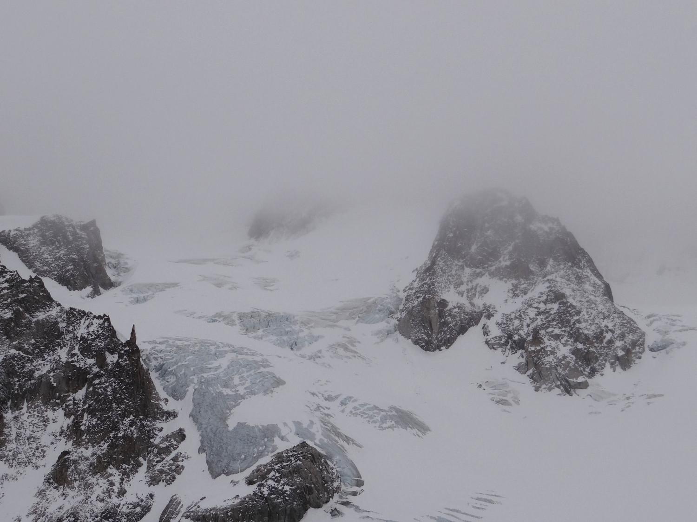 Pour info : la montée peu enneigée en direction des cols de Saleina et de la Grande Lui