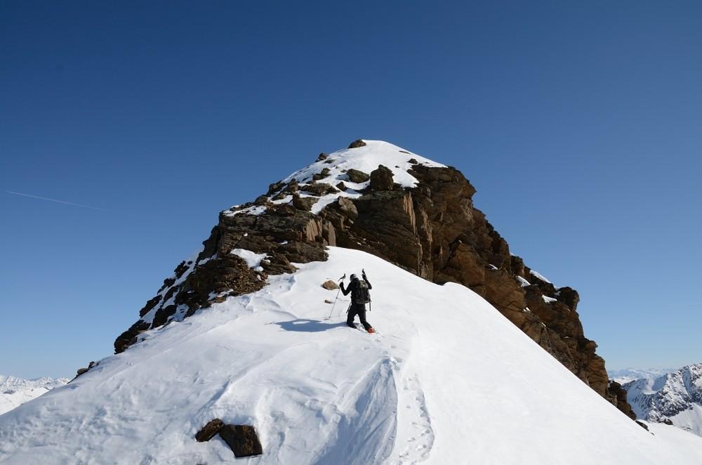la vetta del Piz Clüx 3130m