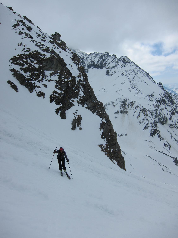 Dans le couloir à ski