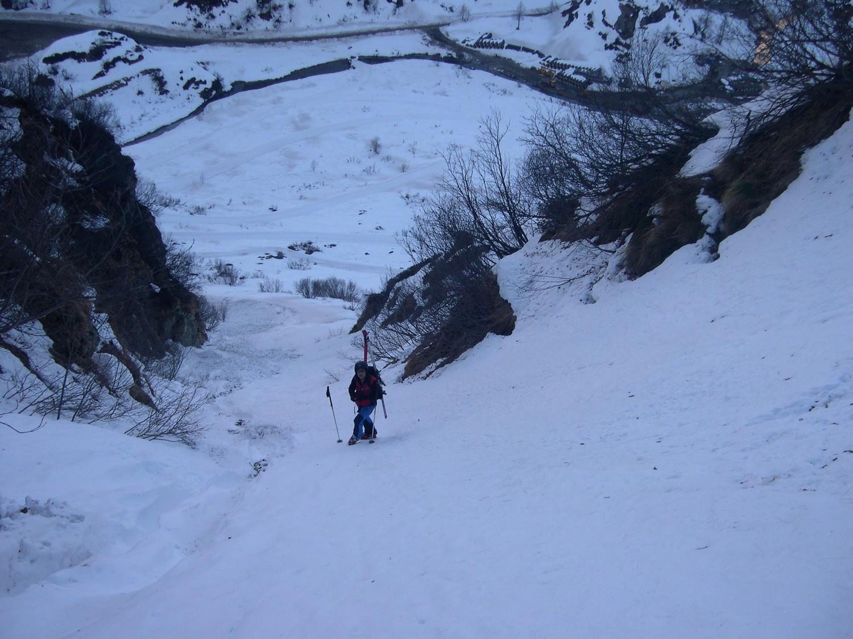 il canale che porta all'alpe