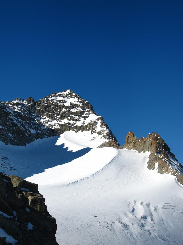 il ghiacciaio Porchabella con la cresta del Kesch