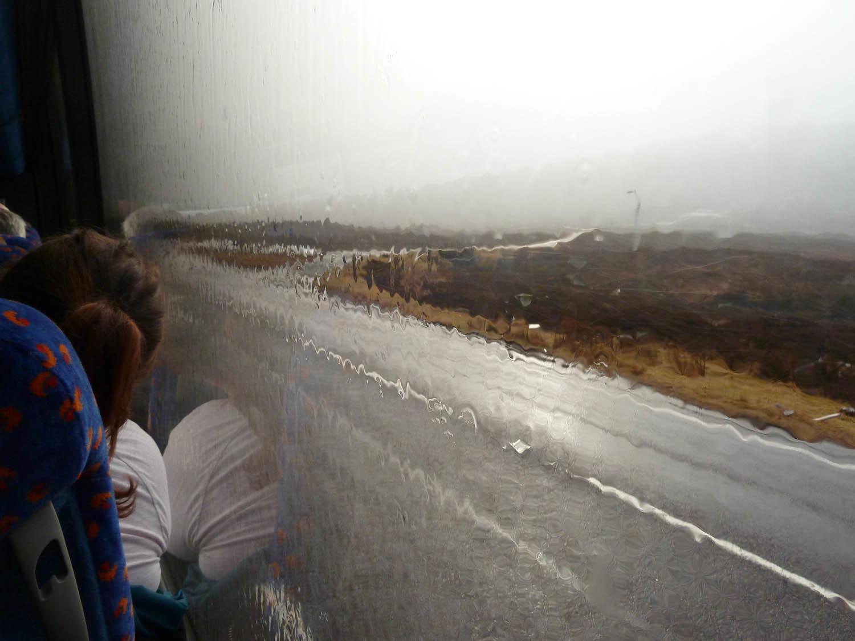 Difficile d'apprécier le paysage quand le ciel est bâché et qu'il pleut ! (massif de Glencoe)
