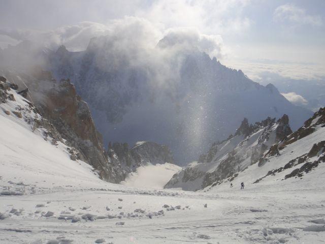 descente depuis le sommet