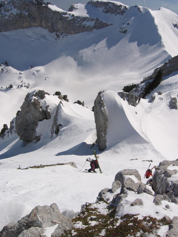 Lances de Mallissard Mars 2012 : final avec apperçu de la descente et du Dome de Bellefond