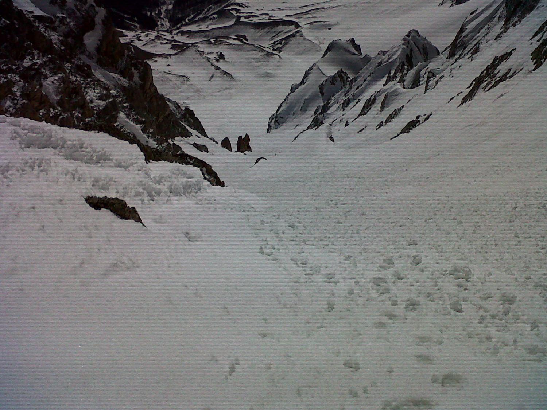 un canalone tutto da sciare