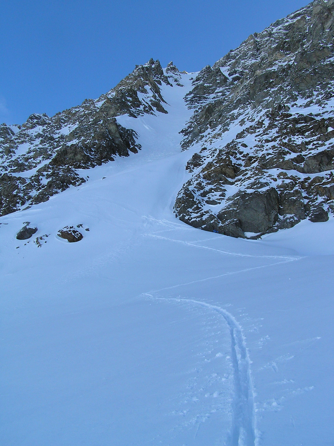 Le Vélan, couloir central