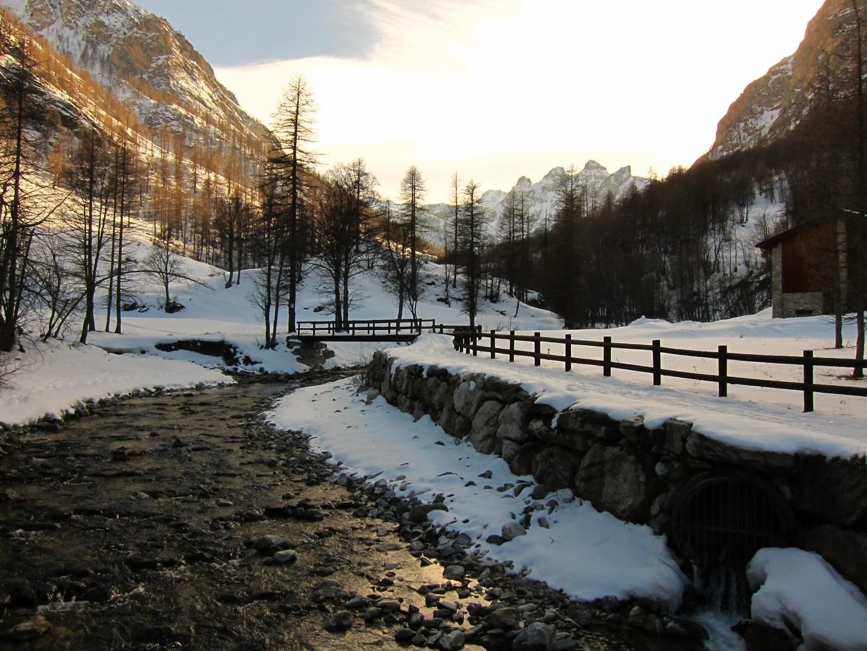 tramonto sul torrente Preit