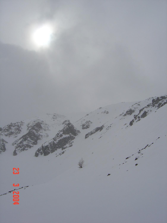 Temps nuageux à l'Ergischhorn