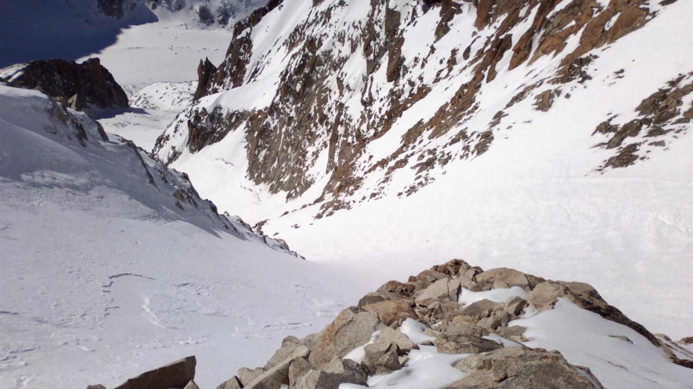 Descente du glacier du Milieu