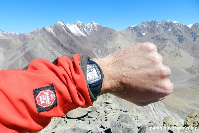 En la cumbre del Serrata 4229m