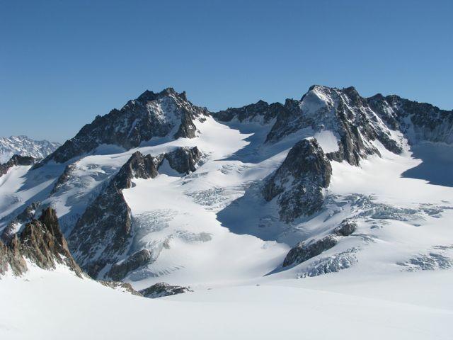 Glacier de Saleina + grande Lui (à droite)