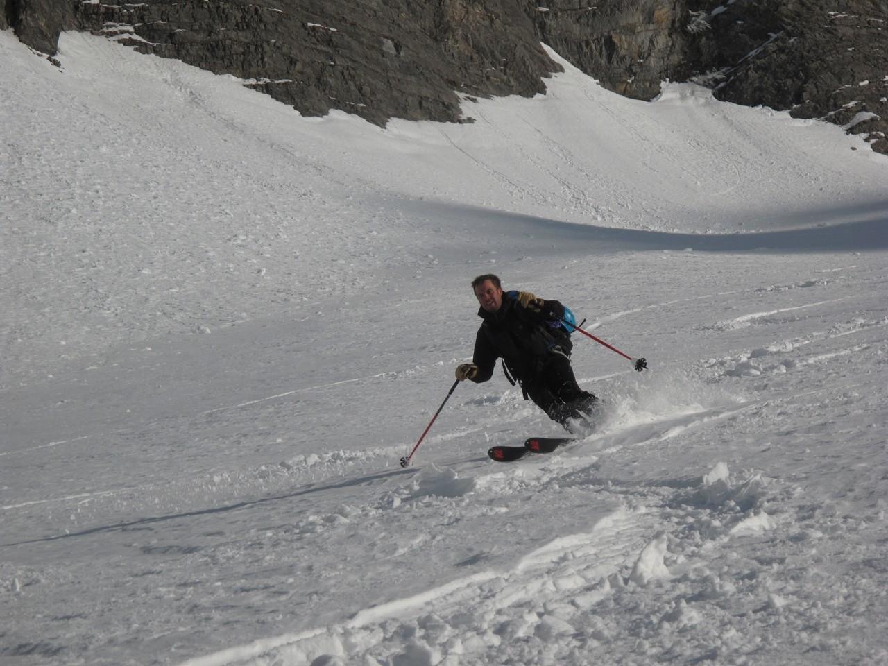 du beau ski dans la combe des Outans
