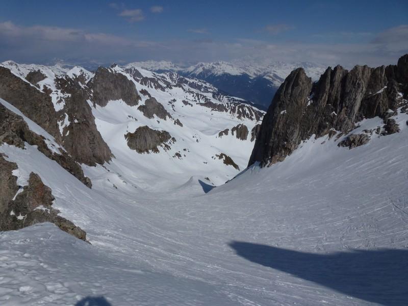 Au point 2740m, au pied de l'arête