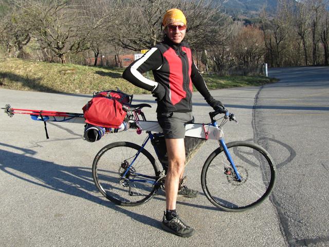 Véloski : un véloskieur satisfait de son arnachement