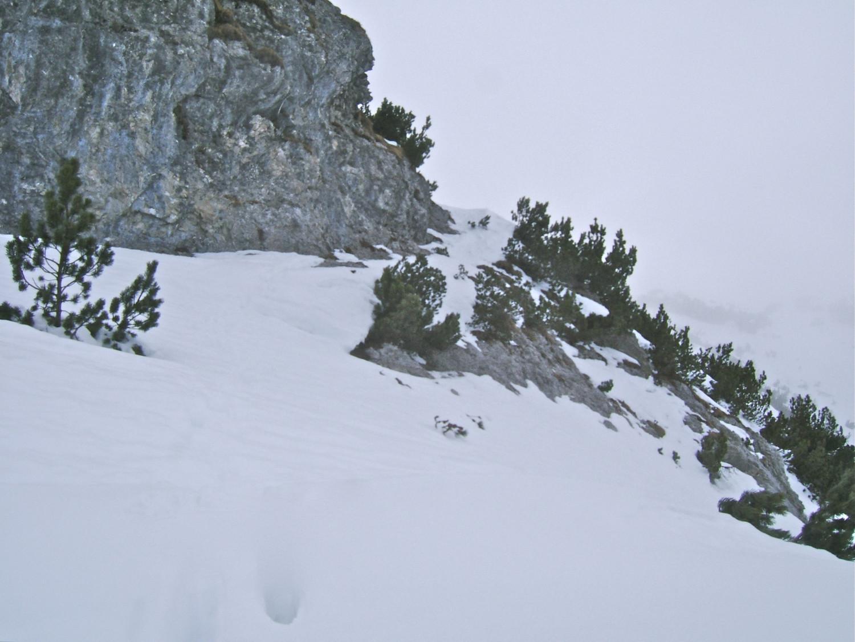 Passage délicat à la montée vers 2070m.