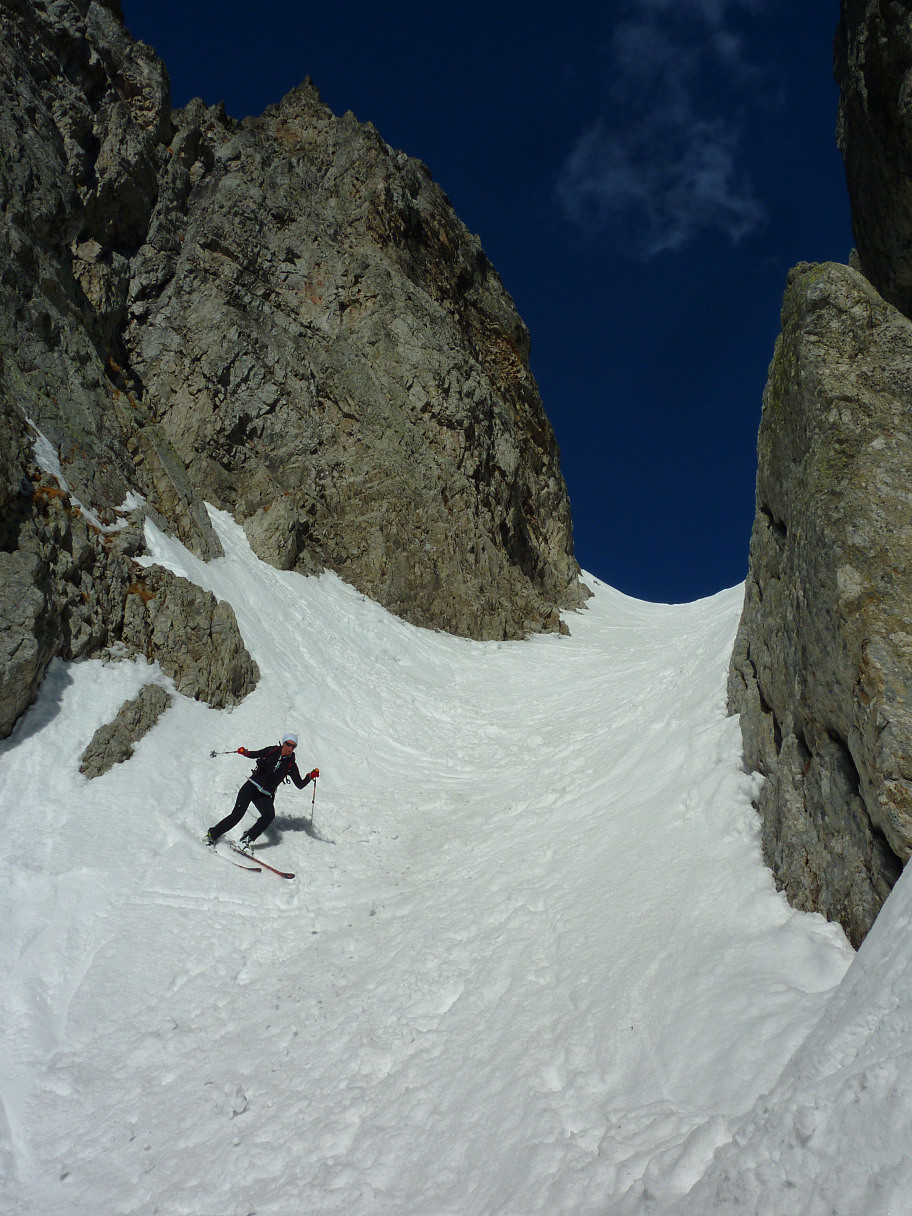 Rocher du Grand Jet : Couloir W
