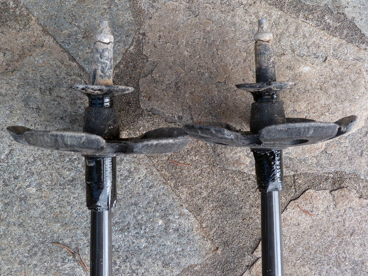 Bâtons Ultra Distance (Black Diamond) : Adaptation rondelles larges pour la neige