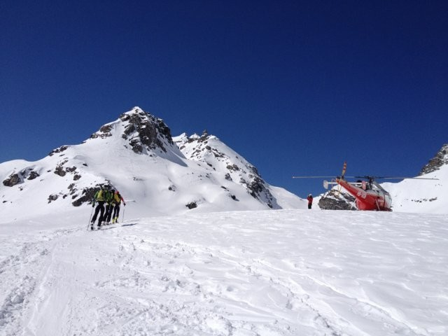 Accident de ski au sud de Mt-Fort