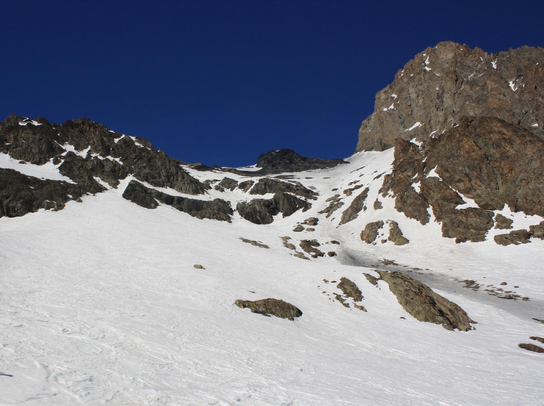 Le versant S du Col de la Lauze