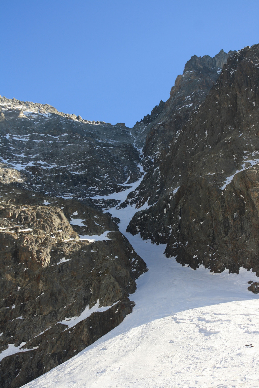 L'état plutôt sinistre du couloir N du Col de Burlan