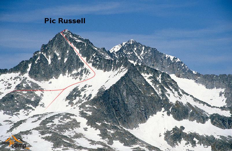 Pic Russell depuis le pic Soubiron
