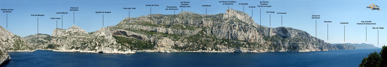 Littoral des Calanques : de Morgiou à Castelveil