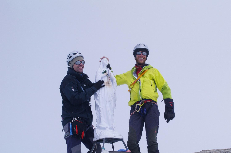 La Madone au sommet, après 1h d'attente...