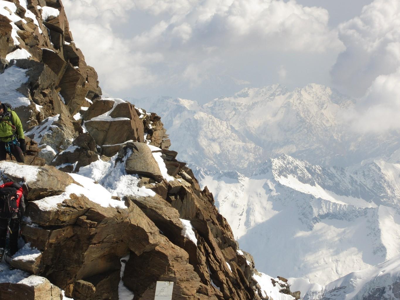 l'arête menant à la Dufourspitze