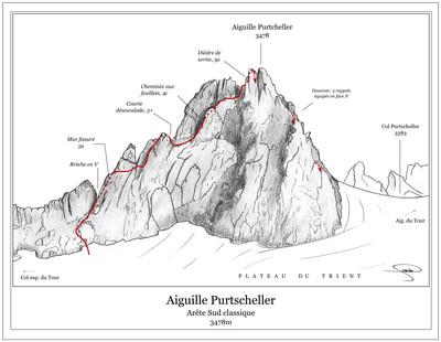 Aiguille Purtscheller, Arête S classique
