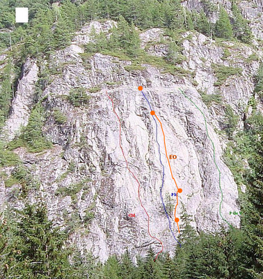 Vallorcine, red route