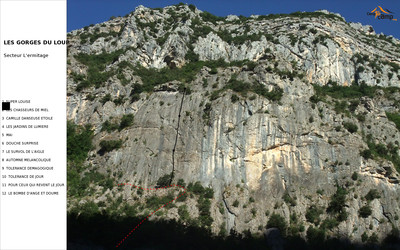 Gorges du Loup, secteur Ermitage