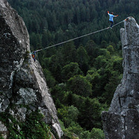 Thomas - highline au Capucin - Montdore (63)
