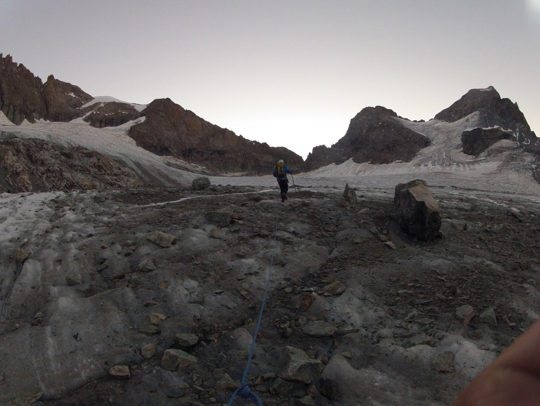 Profil de la course depuis l'attaque du glacier