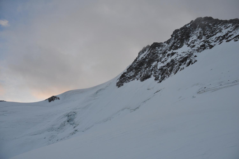Fletschhorn Face W : traversée du Grüebugletscher