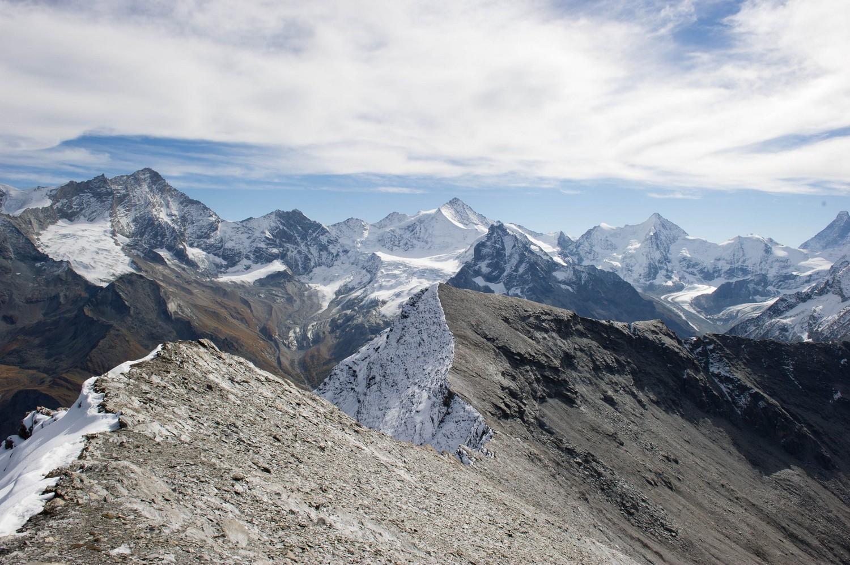 Weisshorn, Zinalrothorn, Obergabelhorn, Cervin