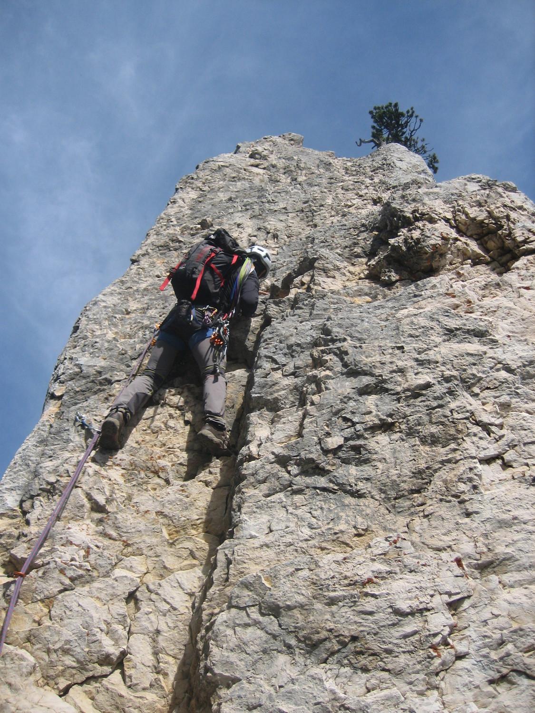 Lionel dans la montée à la Dent Gérard