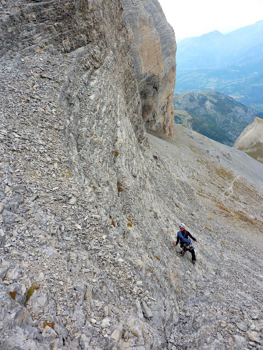 Gradins sous le Col de l'Obiou