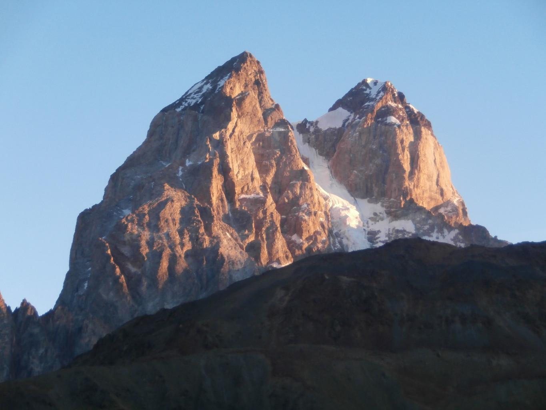 depuis le sommet Gul 2900m entre Mestia et Mazeri